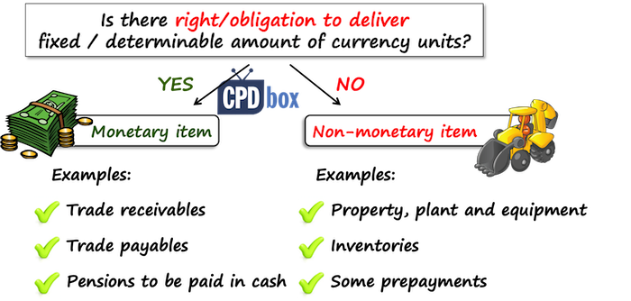 Monetary vs. non-monetary items